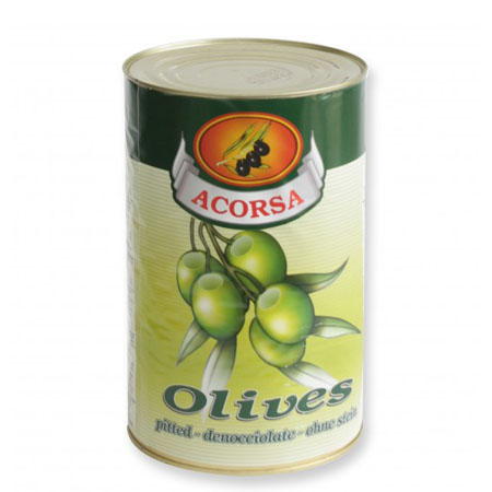 pitted green olives